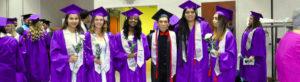 Photo of graduation students.