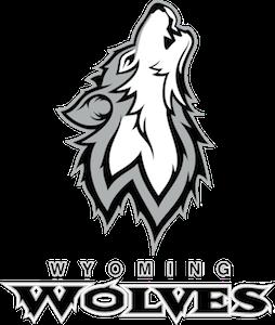 Wyoming Public Schools Wolf Mascot Logo